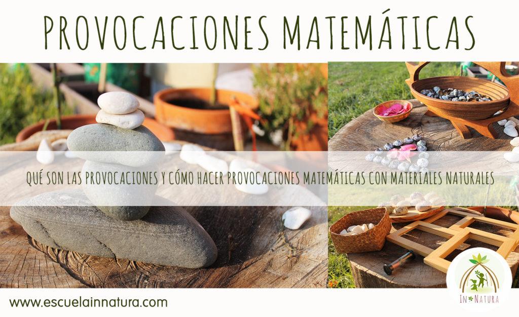 provocaciones matematicas con materiales naturales
