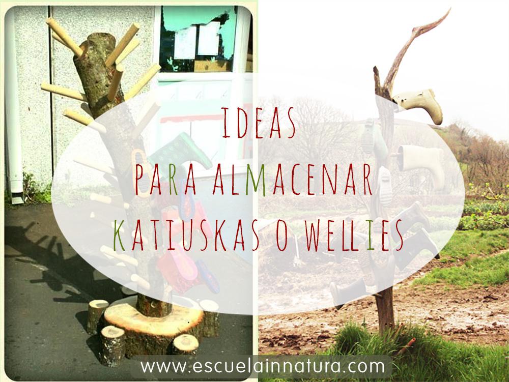 Ideas para almacenar katiuscas, botas de agua o wellies