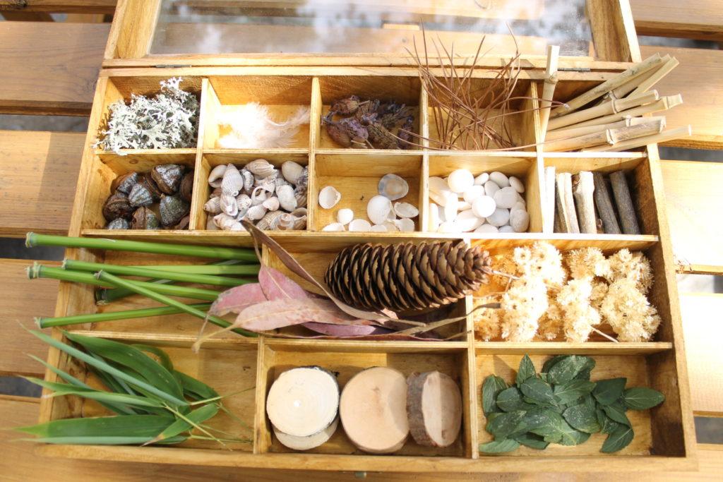 Caja materiales naturales