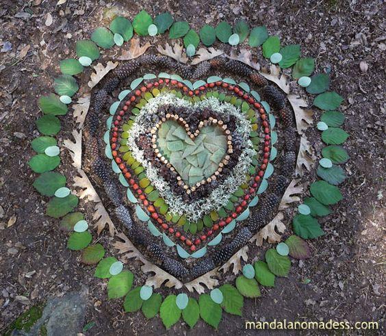 mandala corazón de la gratitud