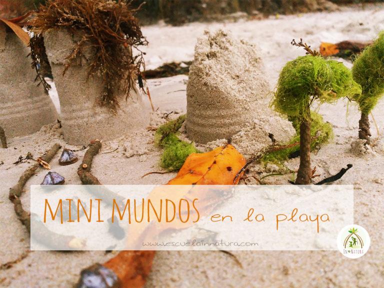 minimundos en la playa