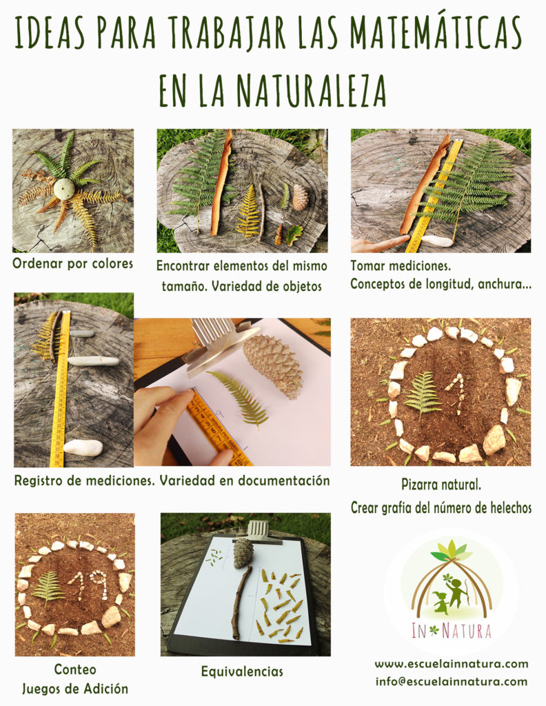 Trabajar las matemáticas con materiales naturales