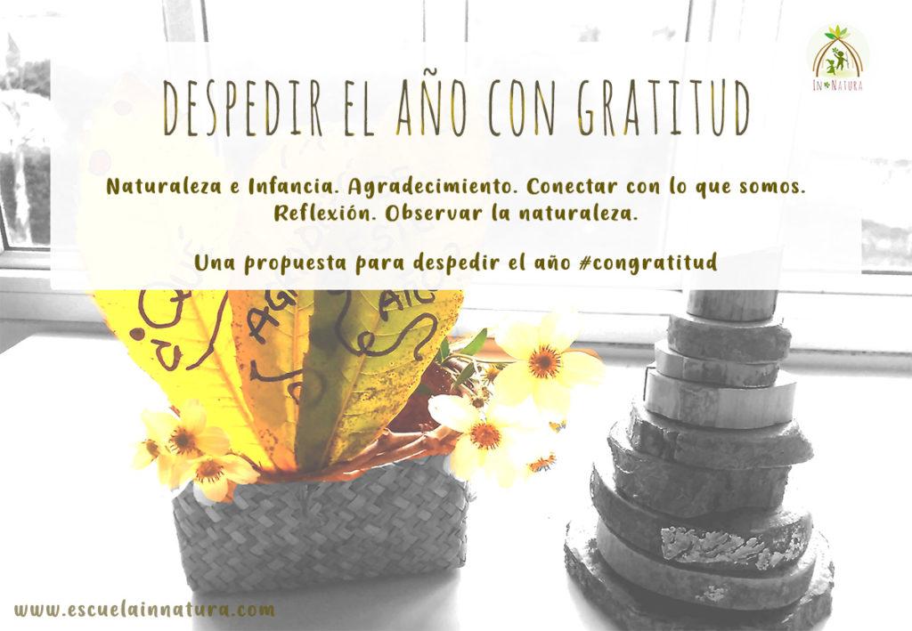 despedir el año con gratitud