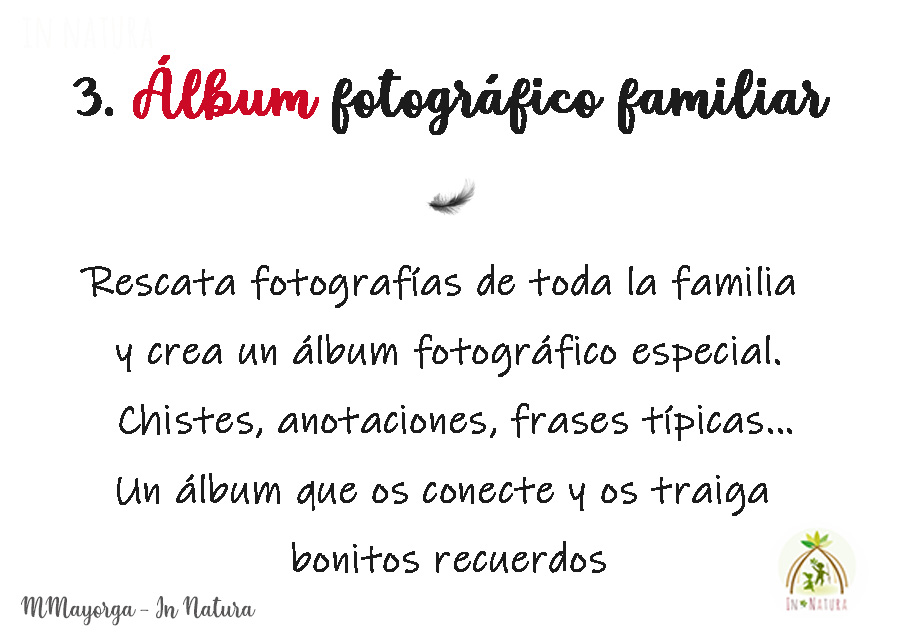 album fotográfico familiar. Una propuesta para crear un album de fotos con la familia y los amigos