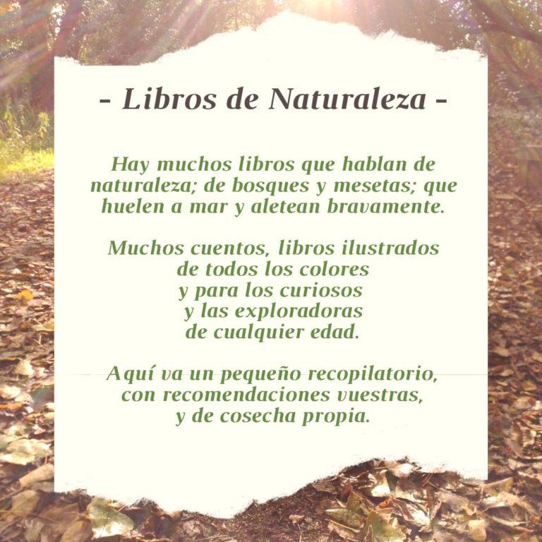Libros de Naturaleza e Infancia