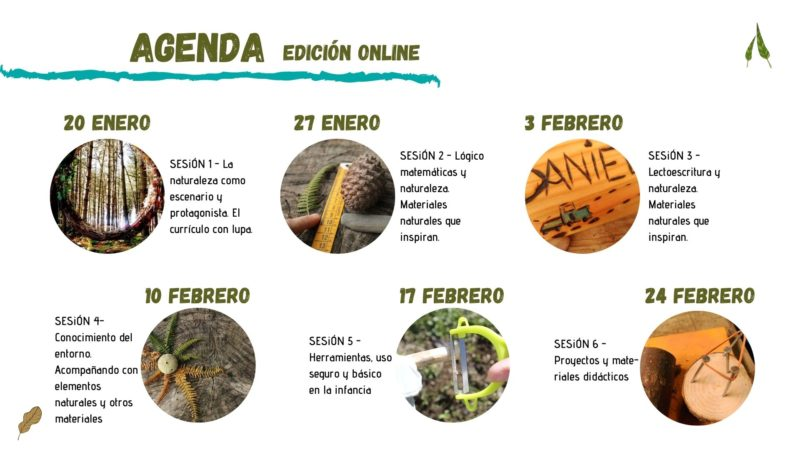 agenda curriculo y naturaleza - calendario