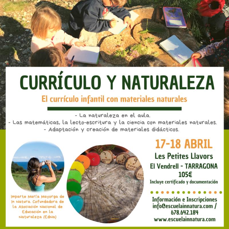 Currículo y Naturaleza en Tarragona- Abril 2021