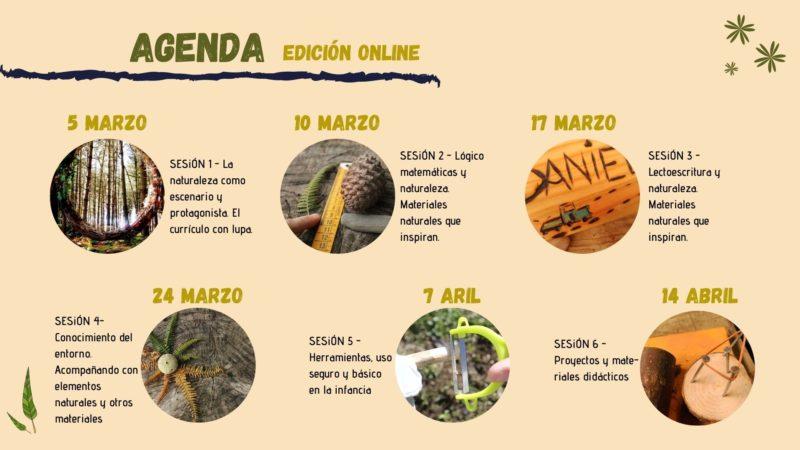 Agenda Marzo y Abril - Curso online materiales didácticos naturales