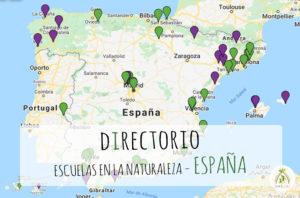 Mapa escuelas en la naturaleza España