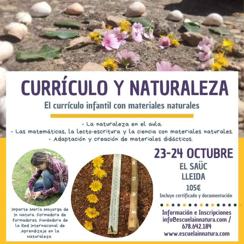curriculo y naturaleza octubre- El Saüc